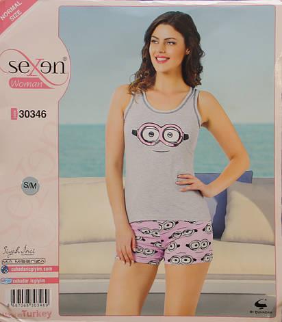 """Летняя пижама для женщин - шорты и майка """"SEXEN"""" 30346, фото 2"""
