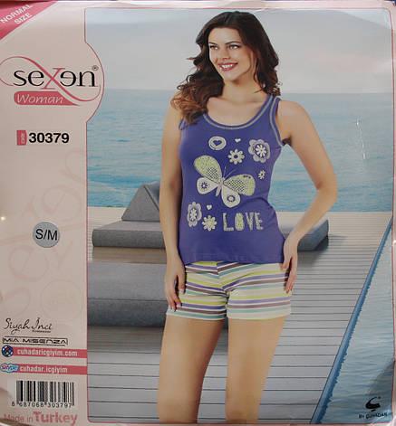 Річна піжама для жінок - шорти і майка SEXEN 30379, фото 2