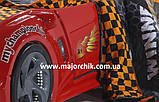 Детская кровать машинка БМВ гоночная машина красная BMW, фото 7