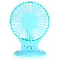 Супер тихий двойной-лезвие портативный Электрический вентилятор Синий