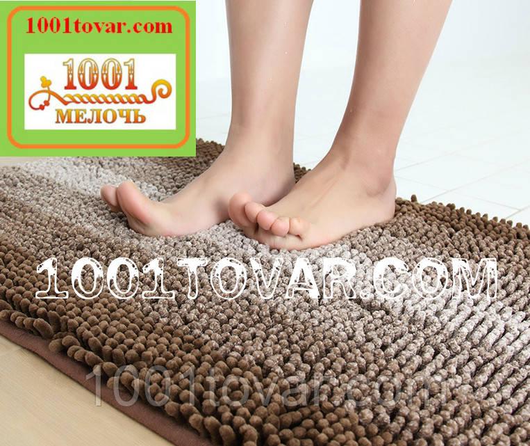 """Коврик из микрофибры """"Махрамат"""" или """"Макароны или дреды"""" для широкого применения, 60х50 см., коричневый цвет"""