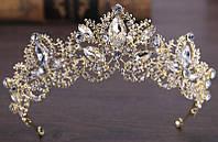 """Шикарная золотистая диадема """"Принцесса Ди"""" от студии LadyStyle.Biz, фото 1"""