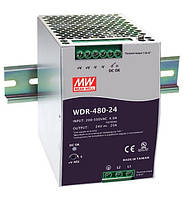 WDR-480-24, WDR-480-48 - однофазные и двухфазные источники питания Mean Well (на DIN-рейку)