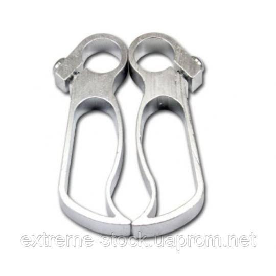 Алюминиевые рожки Rest Hollow, CNC, серебристые, с заглушками