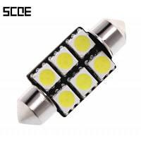 SCOE 6Б 36ММ 6 SMD для интерьера автомобиля лампы для чтения Белый