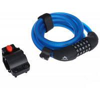 INBIKE D16677 велосипедный замок с 5-значным кодом блокировки и проводом 1.8м Синий