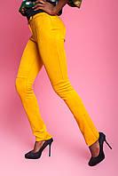 Брюки женские, цвет: горчица, размер: S, M, L, XL
