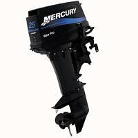 Двухтактный лодочный мотор Mercury 25 M Seapro