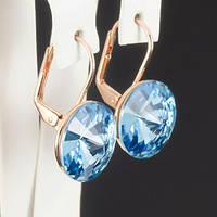 Невероятные серьги с кристаллами Swarovski, покрытые слоями золота 0528