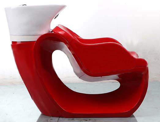Стационарная кресло-мойка для парикмахерских Верона (красная) BM 78134