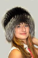 Шапка женская из меха чернобурки , фото 1