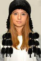 Шапка-ушанка женская из меха норки, фото 1