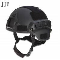 Углерод тактический военный шлем головы протектор Мич Чёрный