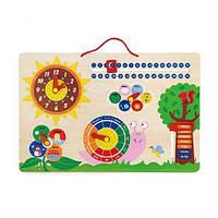 """Развивающая игрушка Viga Toys """"Календарь и Часы"""" 50380"""