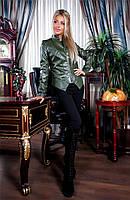 """Оригинальная курточка Ella с отделкой кожи """"ромбик"""" и актуальной атласной подкладкой (144)503760"""