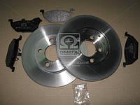 Комплект тормозной передн. SKODA ROOMSTER, OCTAVIA -10,VW POLO 09-,GOLF IV (пр-во REMSA) 8633.09