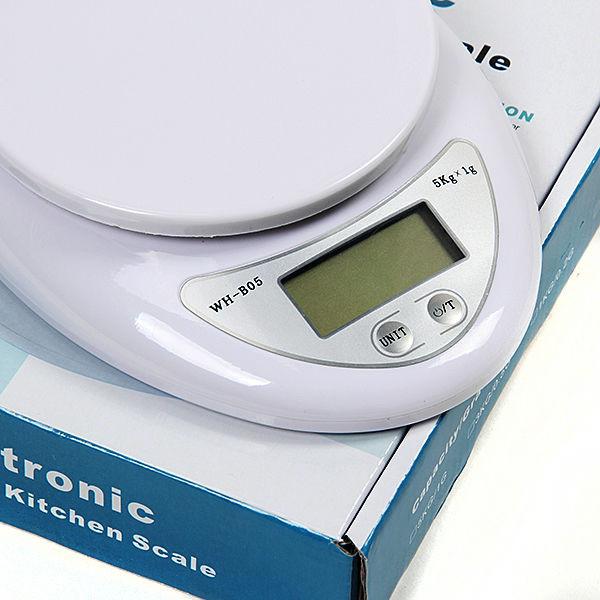Кухонные весы до 5 кг (WH-b05) с батарейками