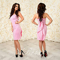 36cde7886caf Нарядное платье Galina с оригинальным воланом сзади платья скрывающий  застежку молнию (2 цвета) (