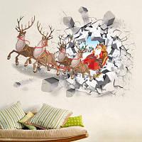 Съемный Рождество Mīlu наклейки Оленьи автомобилей Wall Разноцветный