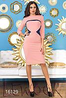Нежное комбинированное платье с открытой спиной