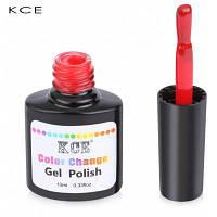 KCE Стойкий водонепроницаемый термо гель-лак в 18 ярких цветов 12