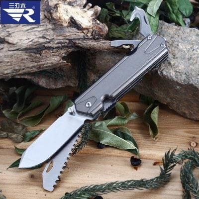 Sanrenmu 7117 LUX-LK-T5 Складной зазубренный нож / пила / резак Серый - ➊ТопШоп ➠ Товары из Китая с бесплатной доставкой в Украину! в Киеве