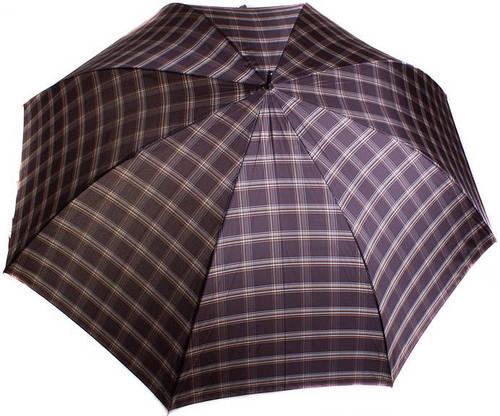 Мужской зонт-трость с большим куполом, полуавтомат ТРИ СЛОНА MR1800-4 серый