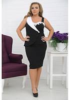 Платье до колен большого размера 5555БИЗНЕС-ЛЕДИ
