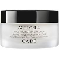 Дневной крем с тройной защитой для нормальной и комбинированной кожи Acti-Cell Triple Protection Day Cream Ga-De