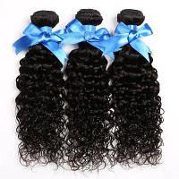 Пряди из кудрявых волос для бразильского наращивания 10дюймов