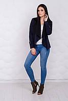 Пиджак женский, цвет: темно-синий, размер: 42-44, 46-48