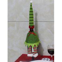Рождественский стол Декор нашивки одежды Дизайн бутылки вина Обложка сумка Зелёный