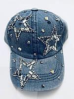 Кепка джинсовая со стразами 54-55 см ЛУЧШАЯ ЦЕНА 7 км