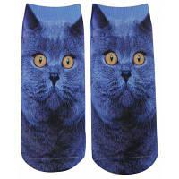 3D печать животное унисекс хлопок носки Синий