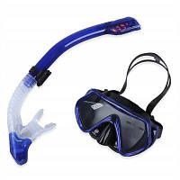 Дайвинг Анти-туман очки маска для подводного плавания набор Синий