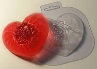 Форма пластиковая Шелковое Сердце