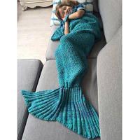 Winter Super Soft спальный мешок Кровать Throw Wrap Русалка Одеяло