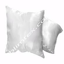 Подушка атласная,натуральный наполнитель, квадратная белая, метод печати сублимация, размер 35х35см