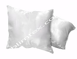 Подушка атласная,натуральный наполнитель, прямоугольная белая, метод печати сублимация, размер 35х45см