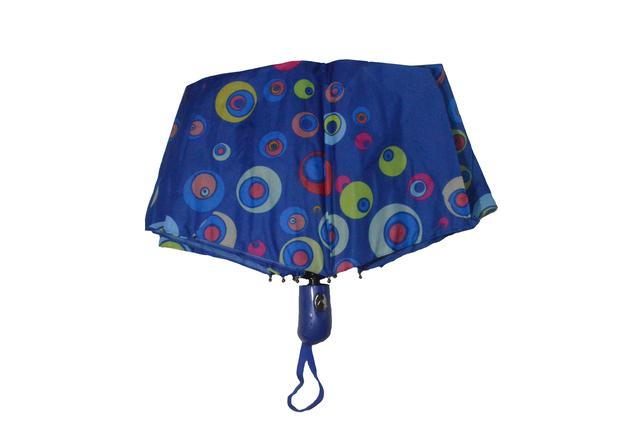 Зонтик женский синий полуавтомат (4835) фото 2