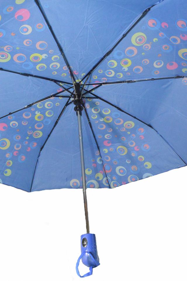 Зонтик женский синий полуавтомат (4835) фото 3