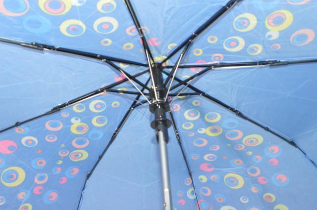 Зонтик женский синий полуавтомат (4835) фото 4