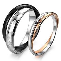 "Парные кольца двойные ""Звездный дуэт"", фото 1"