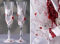 """Свадебные бокалы """"Сердце"""" с напылением"""