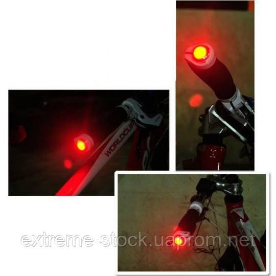 Мигалки-заглушки в руль Kheng CoolLED, красный свет
