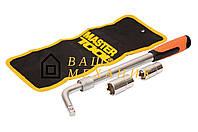Ключ баллонный L-образный Mastertool - 17 x 19 мм и 21 x 23 мм, телескопический