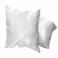Подушка атласная, квадратная белая, метод печати сублимация,искусственный наполнитель,размер 45х45см