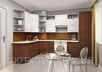 Кухня светло-темные фасады под заказ угловая вариант-010