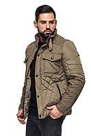 Мужская классическая стеганая куртка демисезонная