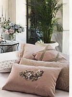 Турецкий люксовый набор покрывало с наволочками ТМ Pepper Home Angelo розовый
